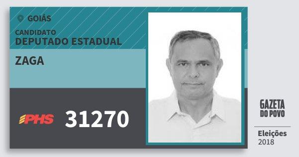 Santinho Zaga 31270 (PHS) Deputado Estadual | Goiás | Eleições 2018
