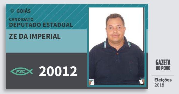 Santinho Ze da Imperial 20012 (PSC) Deputado Estadual | Goiás | Eleições 2018
