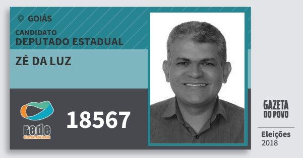 Santinho Zé da Luz 18567 (REDE) Deputado Estadual | Goiás | Eleições 2018
