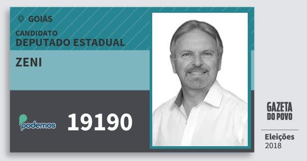 Santinho Zeni 19190 (PODE) Deputado Estadual | Goiás | Eleições 2018