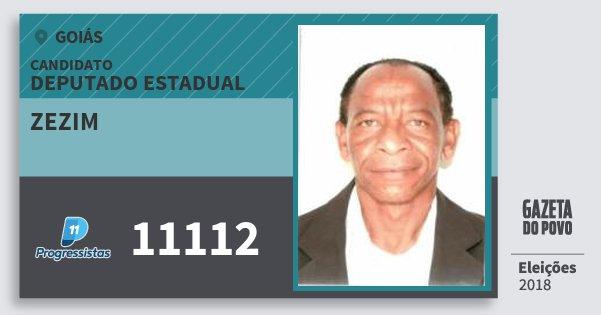 Santinho Zezim 11112 (PP) Deputado Estadual | Goiás | Eleições 2018