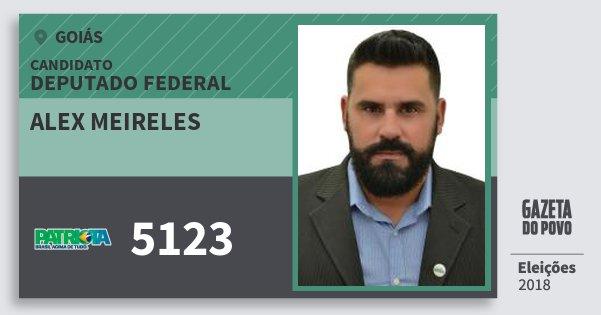 Santinho Alex Meireles 5123 (PATRI) Deputado Federal | Goiás | Eleições 2018