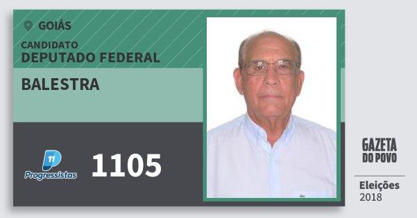 Santinho Balestra 1105 (PP) Deputado Federal   Goiás   Eleições 2018