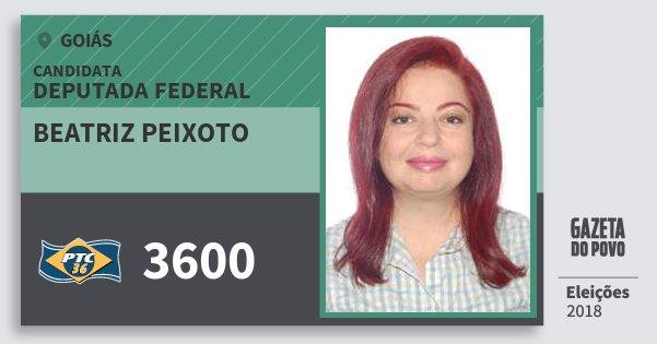Santinho Beatriz Peixoto 3600 (PTC) Deputada Federal | Goiás | Eleições 2018
