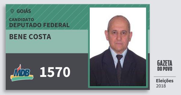 Santinho Bene Costa 1570 (MDB) Deputado Federal | Goiás | Eleições 2018