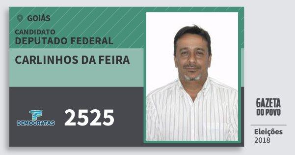 Santinho Carlinhos da Feira 2525 (DEM) Deputado Federal   Goiás   Eleições 2018