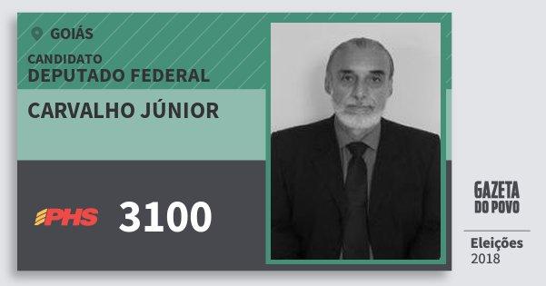 Santinho Carvalho Júnior 3100 (PHS) Deputado Federal | Goiás | Eleições 2018