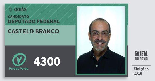 Santinho Castelo Branco 4300 (PV) Deputado Federal | Goiás | Eleições 2018