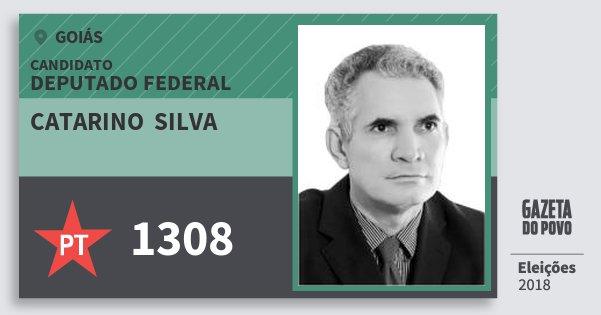 Santinho Catarino  Silva 1308 (PT) Deputado Federal | Goiás | Eleições 2018