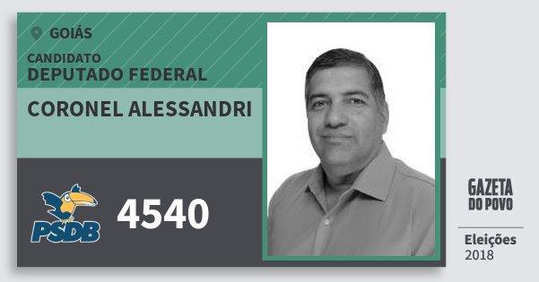 Santinho Coronel Alessandri 4540 (PSDB) Deputado Federal | Goiás | Eleições 2018