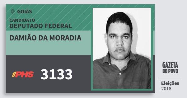 Santinho Damião da Moradia 3133 (PHS) Deputado Federal | Goiás | Eleições 2018