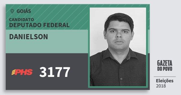 Santinho Danielson 3177 (PHS) Deputado Federal | Goiás | Eleições 2018