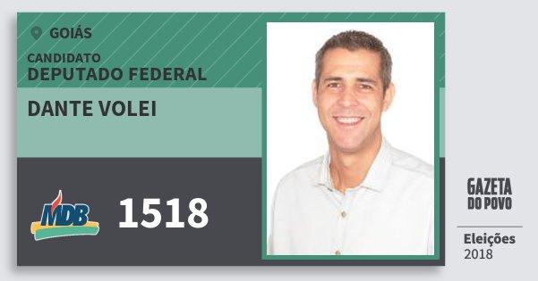 Santinho Dante Volei 1518 (MDB) Deputado Federal   Goiás   Eleições 2018