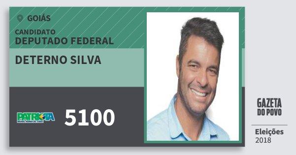 Santinho Deterno Silva 5100 (PATRI) Deputado Federal | Goiás | Eleições 2018