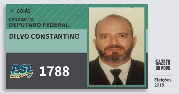 Santinho Dilvo Constantino 1788 (PSL) Deputado Federal | Goiás | Eleições 2018