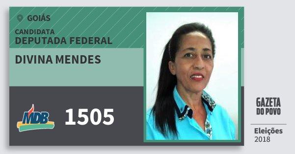 Santinho Divina Mendes 1505 (MDB) Deputada Federal | Goiás | Eleições 2018