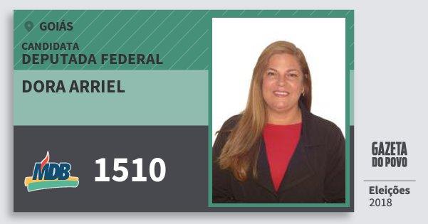 Santinho Dora Arriel 1510 (MDB) Deputada Federal | Goiás | Eleições 2018