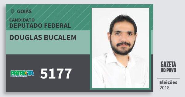 Santinho Douglas Bucalem 5177 (PATRI) Deputado Federal | Goiás | Eleições 2018