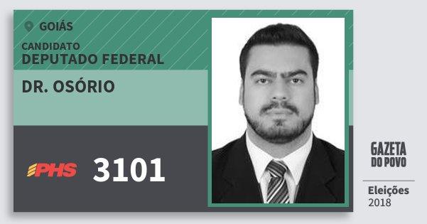 Santinho Dr. Osório 3101 (PHS) Deputado Federal | Goiás | Eleições 2018