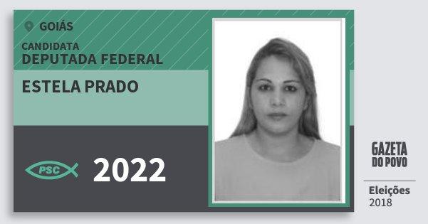 Santinho Estela Prado 2022 (PSC) Deputada Federal | Goiás | Eleições 2018