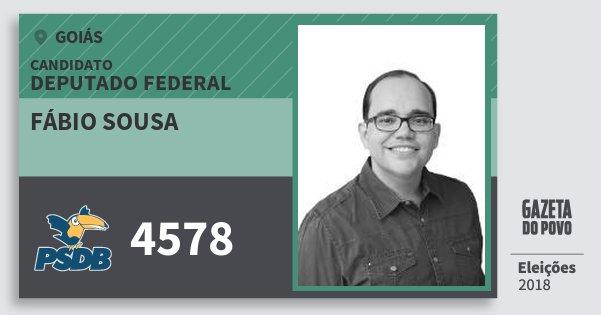 Santinho Fábio Sousa 4578 (PSDB) Deputado Federal | Goiás | Eleições 2018