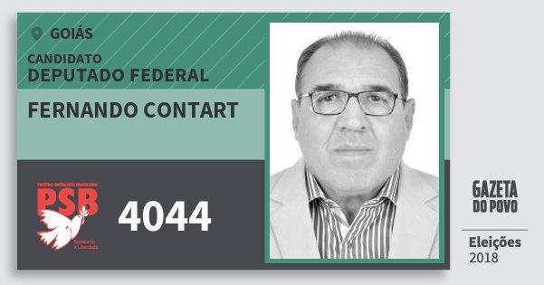 Santinho Fernando Contart 4044 (PSB) Deputado Federal | Goiás | Eleições 2018