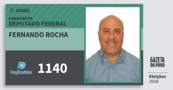 Santinho Fernando Rocha 1140 (PP) Deputado Federal | Goiás | Eleições 2018