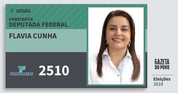 Santinho Flavia Cunha 2510 (DEM) Deputada Federal | Goiás | Eleições 2018