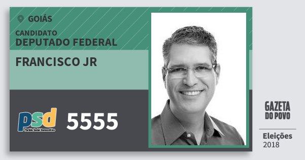 Santinho Francisco Jr 5555 (PSD) Deputado Federal | Goiás | Eleições 2018