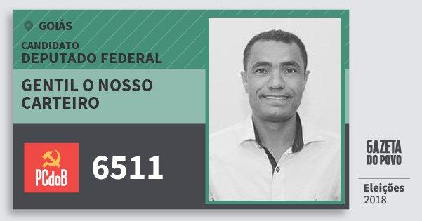 Santinho Gentil O Nosso Carteiro 6511 (PC do B) Deputado Federal | Goiás | Eleições 2018