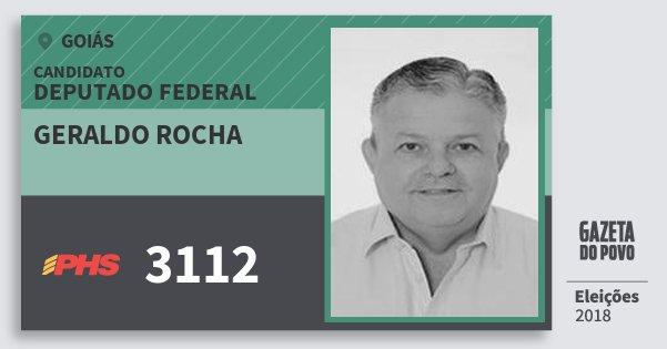 Santinho Geraldo Rocha 3112 (PHS) Deputado Federal | Goiás | Eleições 2018