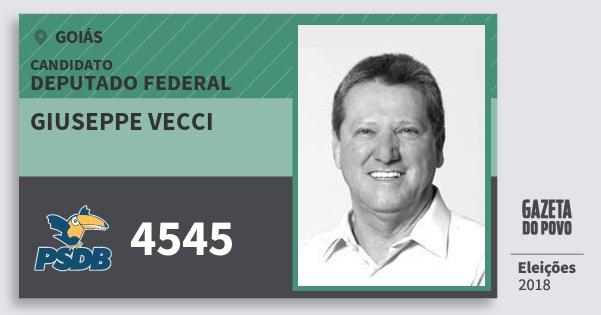 Santinho Giuseppe Vecci 4545 (PSDB) Deputado Federal | Goiás | Eleições 2018