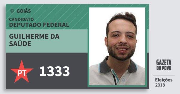 Santinho Guilherme da Saúde 1333 (PT) Deputado Federal | Goiás | Eleições 2018