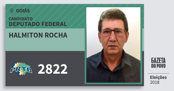 Santinho Halmiton Rocha 2822 (PRTB) Deputado Federal | Goiás | Eleições 2018