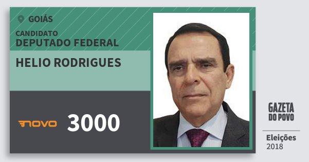 Santinho Helio Rodrigues 3000 (NOVO) Deputado Federal | Goiás | Eleições 2018