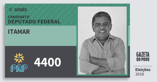 Santinho Itamar 4400 (PRP) Deputado Federal | Goiás | Eleições 2018