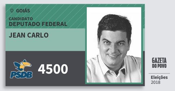 Santinho Jean Carlo 4500 (PSDB) Deputado Federal | Goiás | Eleições 2018