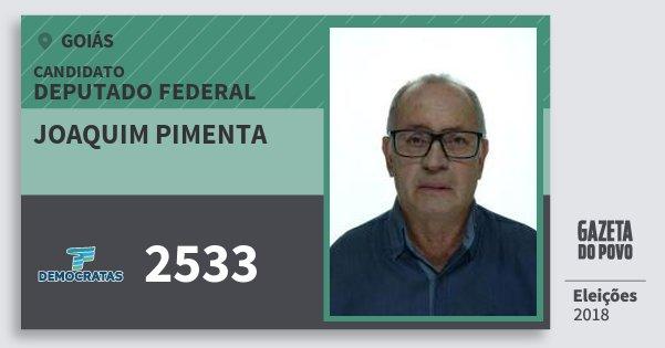 Santinho Joaquim Pimenta 2533 (DEM) Deputado Federal | Goiás | Eleições 2018
