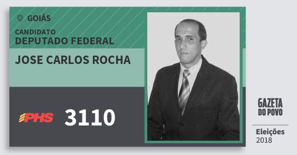 Santinho Jose Carlos Rocha 3110 (PHS) Deputado Federal | Goiás | Eleições 2018