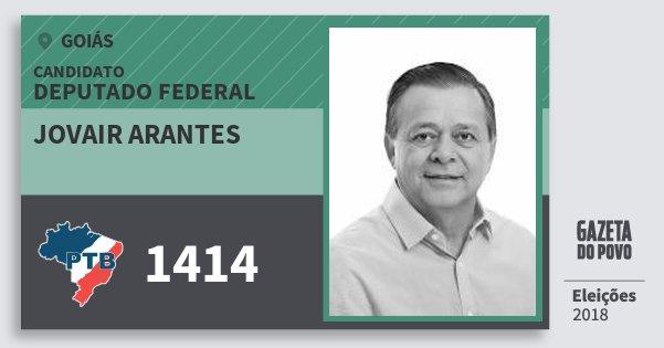 Santinho Jovair Arantes 1414 (PTB) Deputado Federal | Goiás | Eleições 2018