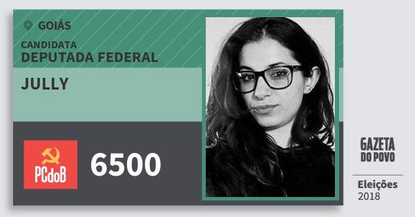 Santinho Jully 6500 (PC do B) Deputada Federal | Goiás | Eleições 2018