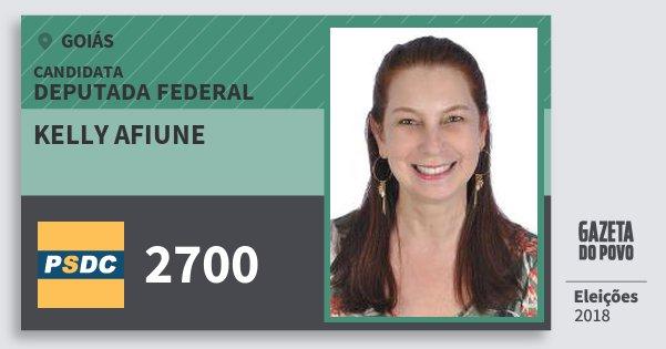 Santinho Kelly Afiune 2700 (DC) Deputada Federal | Goiás | Eleições 2018