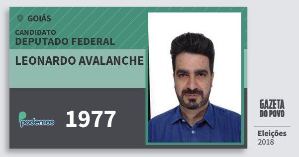 Santinho Leonardo Avalanche 1977 (PODE) Deputado Federal | Goiás | Eleições 2018
