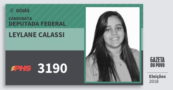 Santinho Leylane Calassi 3190 (PHS) Deputada Federal   Goiás   Eleições 2018