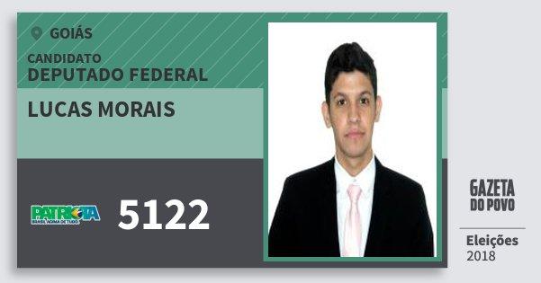 Santinho Lucas Morais 5122 (PATRI) Deputado Federal   Goiás   Eleições 2018