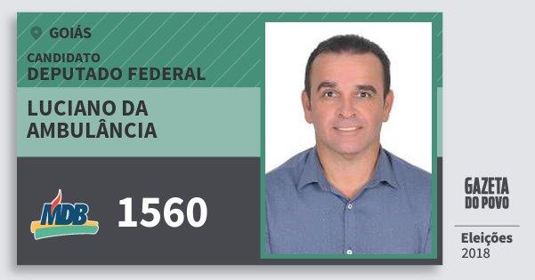 Santinho Luciano da Ambulância 1560 (MDB) Deputado Federal | Goiás | Eleições 2018