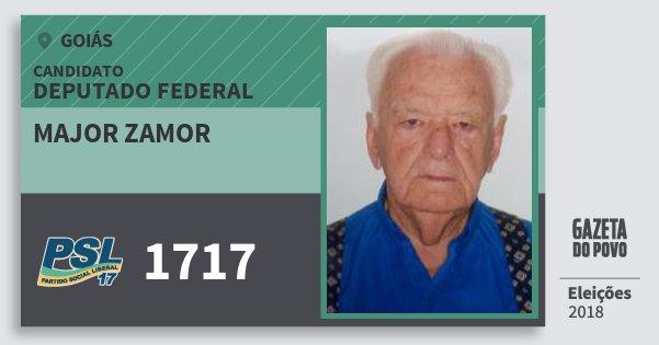 Santinho Major Zamor 1717 (PSL) Deputado Federal | Goiás | Eleições 2018
