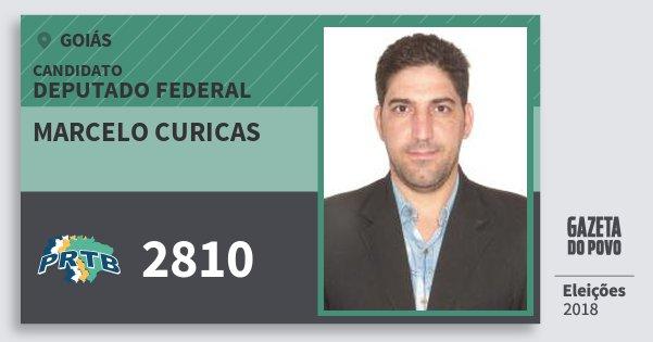 Santinho Marcelo Curicas 2810 (PRTB) Deputado Federal | Goiás | Eleições 2018