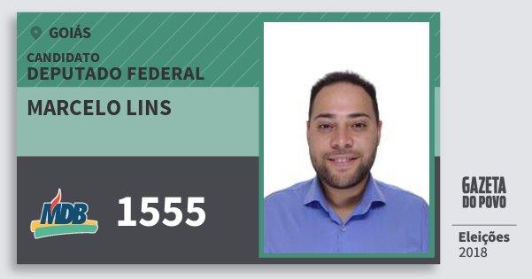 Santinho Marcelo Lins 1555 (MDB) Deputado Federal   Goiás   Eleições 2018