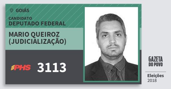 Santinho Mario Queiroz (Judicialização) 3113 (PHS) Deputado Federal | Goiás | Eleições 2018